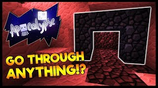 THE MOBS GO THROUGH EVERYTHING!? | Minecraft Apocalypse | #13