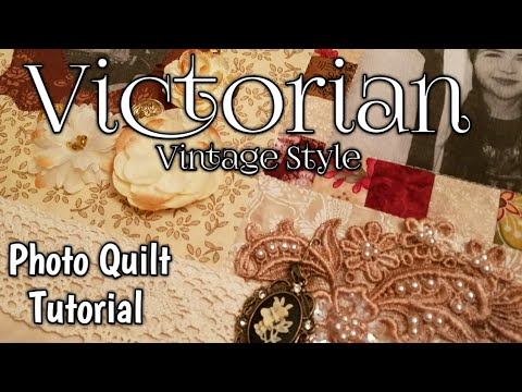 Victorian Photo Wall Quilt Tutorial by Lisa Capen Quilts - DIY Photo Quilt