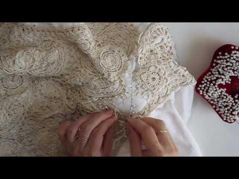 Вшивание рукава в Ирландском кружеве. Часть 2