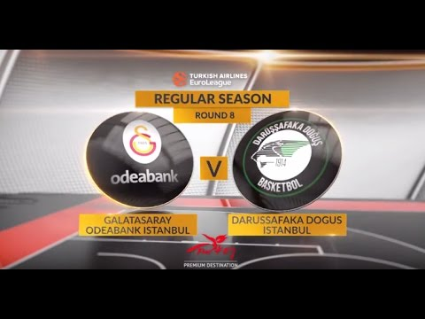 EuroLeague Highlights RS Round 8: Galatasaray Odeabank Istanbul 85-81 Darussafaka Dogus Istanbul