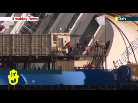cruise ship Italy - One of the largest salvage operations ever undertaken has begun with hundreds of engineers attempting to pull the shipwrecked Costa Concordia upright. The op...