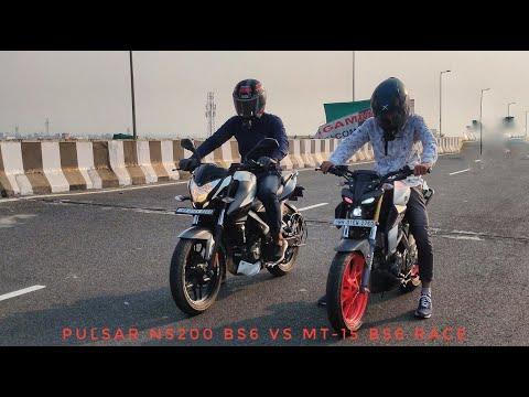 Pulsar ns200 Bs6 Vs Mt 15 bs6 Race