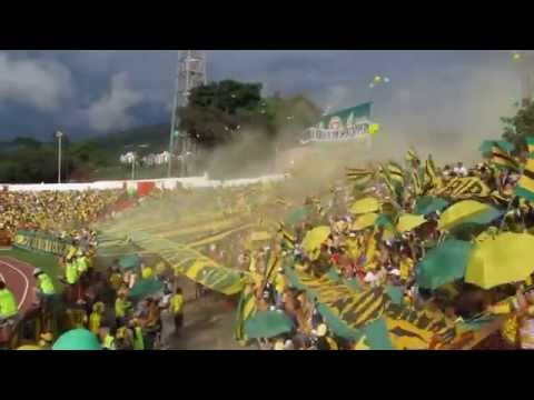 Salida del leopardo en el clasico, Bucaramanga vs puputa. - Fortaleza Leoparda Sur - Atlético Bucaramanga