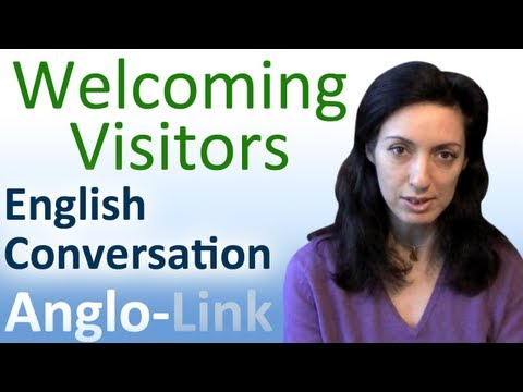 Conversation - This English lesson will teach you both the formal and informal styles of welcoming a visitor either at home or at the office. For more help with learning En...