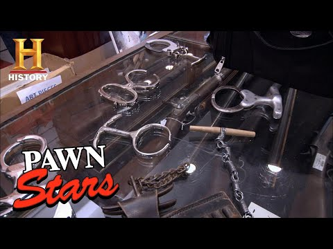 PAINFUL PRICE for CREEPY COLLECTION of Vintage Handcuffs | Pawn Stars (Season 7) | History