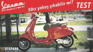 3. Ehliyet gerektirmeyen motosiklet!! | Vespa Primavera 50 | TEST