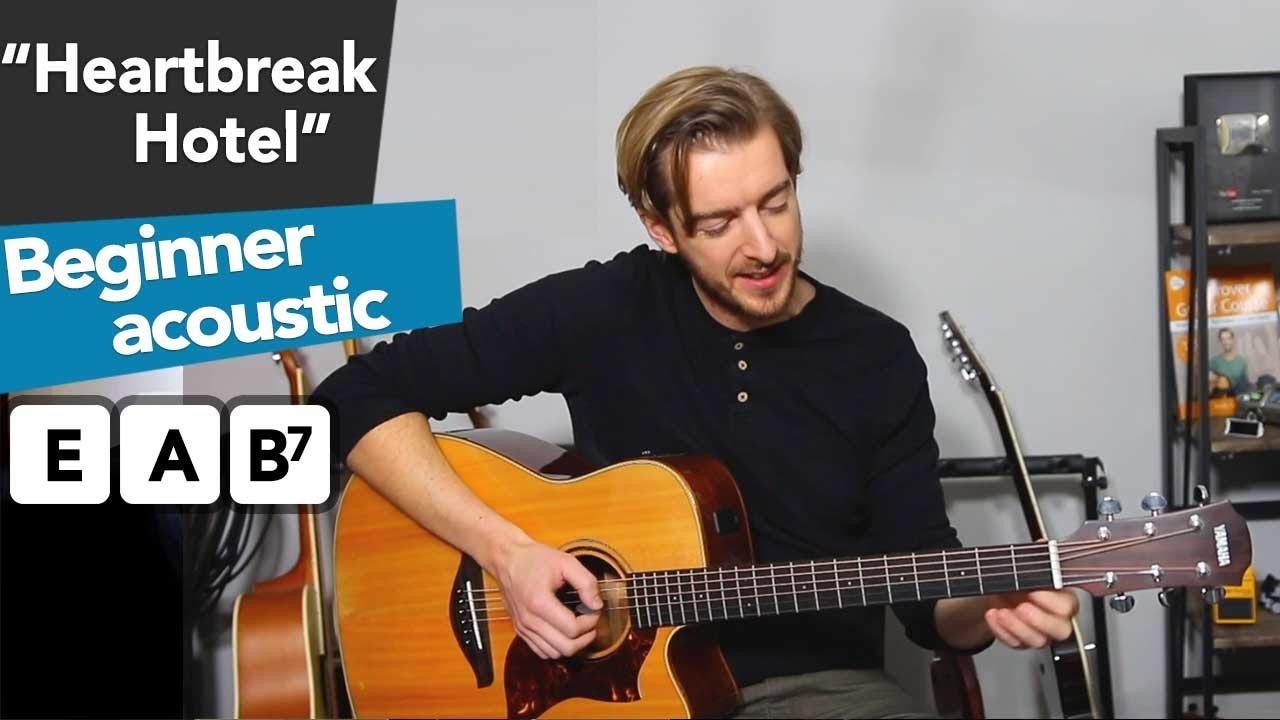 Heartbreak Hotel – Elvis Presley – Beginners Blues Guitar Lesson