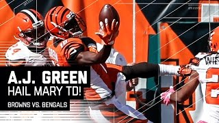 WR A.J. Green was able to reel in this incredible touchdown catch just before halftime! The Cleveland Browns take on the Cincinnati Bengals during Week 7 of ...