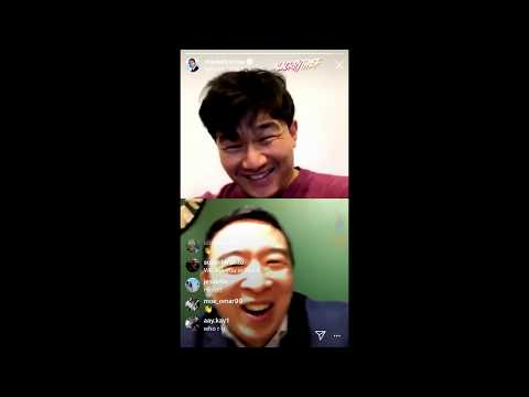 The Daily Show's Ronny Chieng INTERVIEWS Andrew Yang on Instagram LIVE - 1/14/20