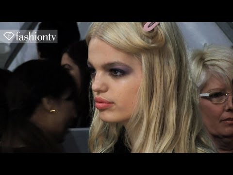 Daphne Groeneveld - SUBSCRIBE: http://bit.ly/FashionTVSUB http://www.FashionTV.com/videos NEW YORK - As the models got their hair and make-up done for Jill Stuart's F/W 2012/13 ...