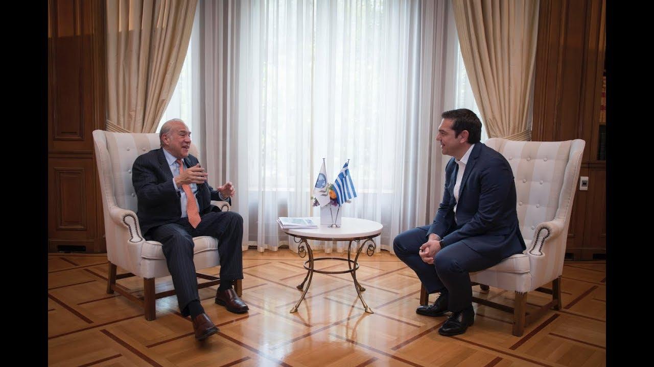 Συνάντηση με τον ΓΓ του ΟΟΣΑ κ. Angel Gurria