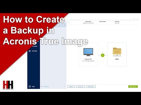 Setting Up a Backup in Acronis True Image 2017