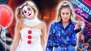 DIY HALLOWEEN COSTUMES: Pennywise It + Eleven Stranger Things by LaurDIY