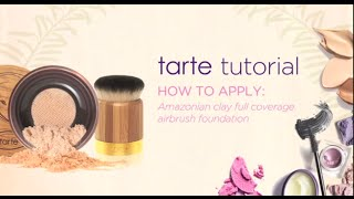 tarte tutorial: how to apply Amazonian clay full coverage airbrush powder foundation