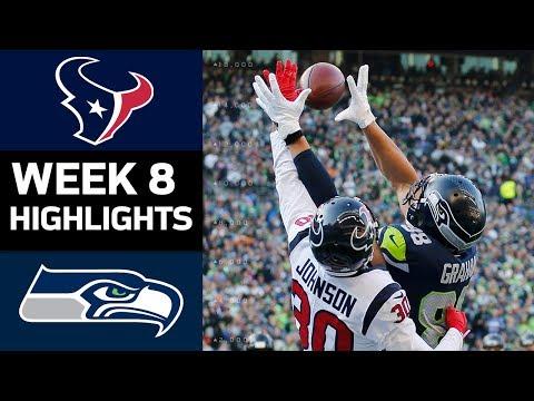 Texans vs. Seahawks | NFL Week 8 Game Highlights (видео)