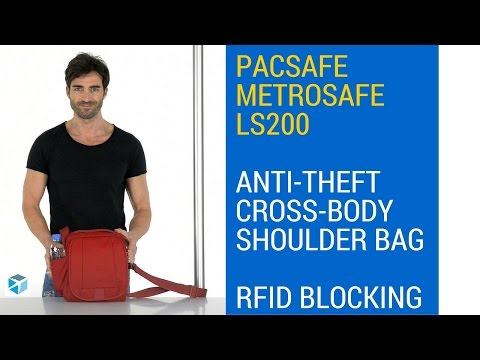 Pacsafe Metrosafe LS200 Anti-Theft Cross Body Shoulder Bag - RFID Blocking