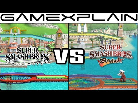 Super Smash Bros. Ultimate Graphics Comparison: Switch vs. Wii's Brawl (ALL RETURNING STAGES!)