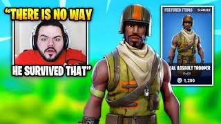 Courage ALMOST DIES Against An AERIAL ASSAULT TROOPER SKIN But Then THIS HAPPENS | Fortnite Moments
