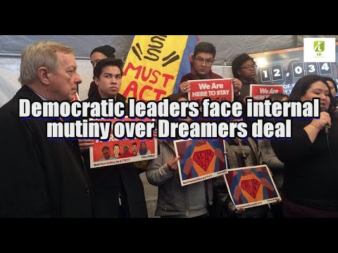Democratic leaders face internal mutiny over Dreamers deal