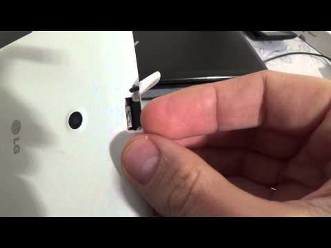 How to put sim card and memory card in LG G Pad 8.0 V490