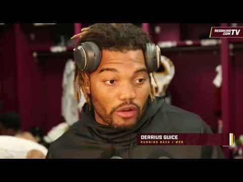 "Derrius Guice On NFL Debut ""It Felt Good"" (Washington Redskins)"