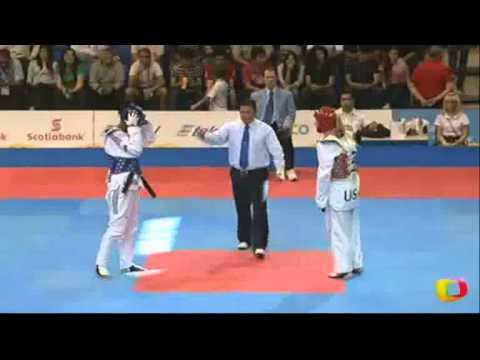 Glenhis Hernandez (CUB) v Lauren Hamon (USA) | Taekwondo at the 2011 Pan Am Games (видео)