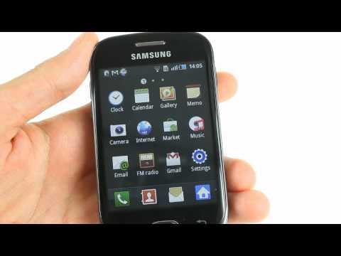 Samsung Galaxy Fit S5670 UI demo