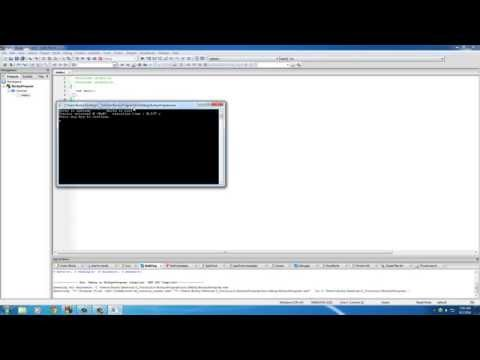 C Programming Tutorial - 4 - Print Text On The Screen