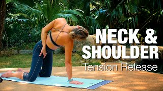 Video Neck & Shoulder Tension Release Yoga Class - Five Parks Yoga MP3, 3GP, MP4, WEBM, AVI, FLV Maret 2018