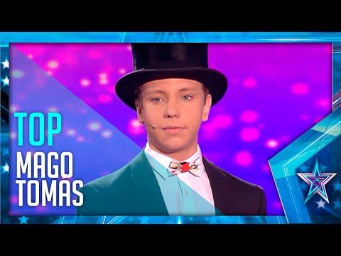 Los ESPECTACULARES TRUCOS del pequeño Mago TOMÁS | Got Talent España