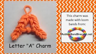 Letter A Loom Band Charm