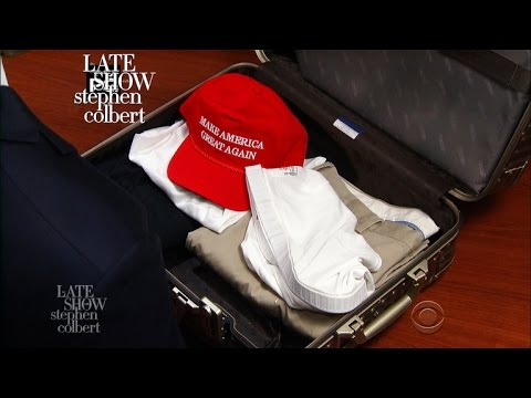 Donald Trump Packs His Suitcase for His First Foreign