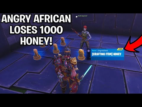 Angry African Loses 1000 Honey! (Scammer Gets Scammed) Fortnite Save The World