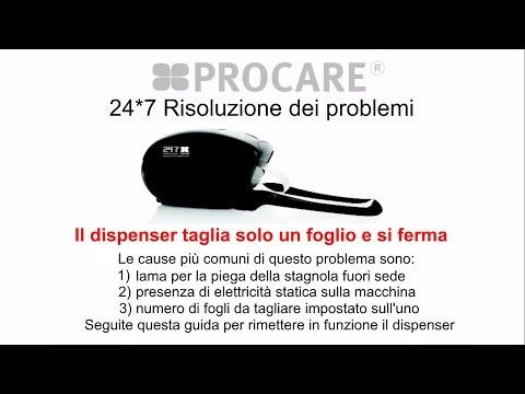 24*7: Il dispenser taglia solo un foglio e si ferma