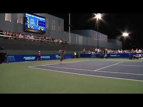 Video: Lundqvist and McEnroe battle Djokovic and Norton