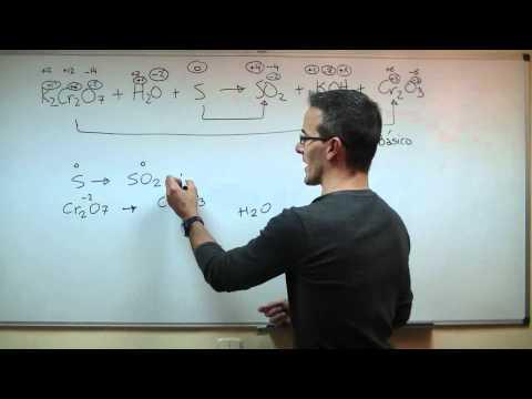 Ajustar una reacción en medio basico- Ion-electron 2ºBACHI unicoos quimica REDOX