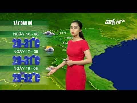 VTC14 | Thời tiết 12h ngày 15/08/2017| Bản tin dự báo thời tiết