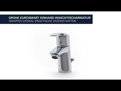 GROHE Eurosmart Waschtischarmatur – spart Energie und Wasser