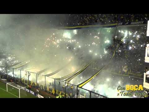 Impresionante Recibimiento / BOCA-RIVER LIBERTADORES 2015 - La 12 - Boca Juniors