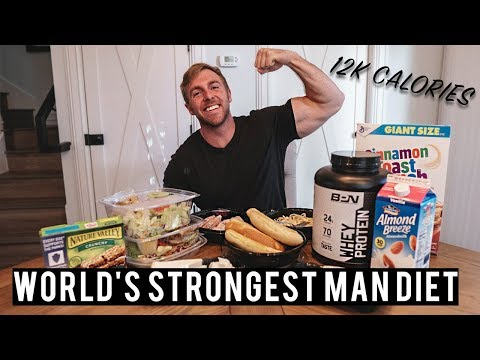 World's Strongest Man Diet Challenge | FULL DAY OF EATING | 12,000 CALORIES