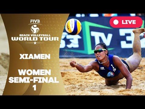Xiamen  - 2018 FIVB Beach Volleyball World Tour - Women Semi Final 1
