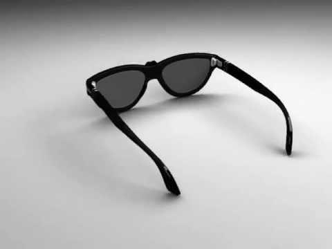 animazione 3d a 360°: occhiali persol luxottica