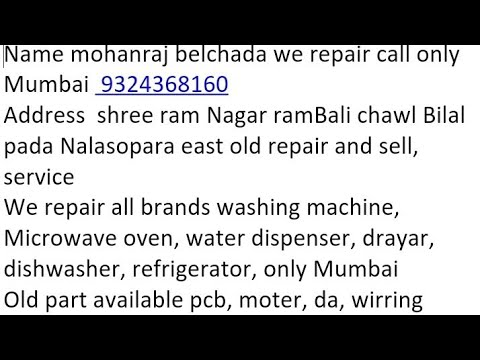 National microwave oven problem repair only Mumbai 9324368160