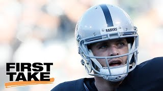 First Take Crew Has Shouting Match Over Derek Carr's New Contract | First Take | June 22, 2017