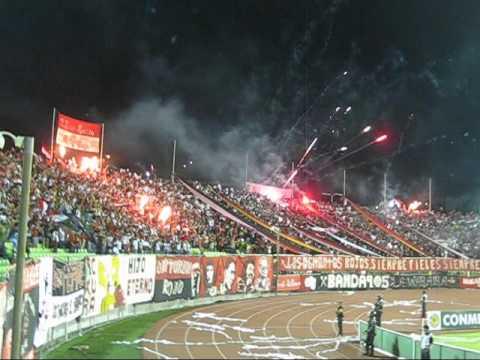 TIFO Caracas FC vs U. española CSL 03/03/2011- LOS DEMONIOS ROJOS - Los Demonios Rojos - Caracas