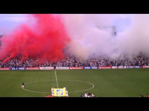 Recibimiento de Nacional vs Libertad de Paraguay en la Copa Libertadores 2012 - La Banda del Parque - Nacional