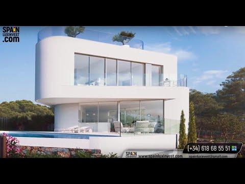 Вилла класса люкс с видом на море в Бенидорме (Сьерра Кортина). Лучшие виллы Hi-Tech в Испании