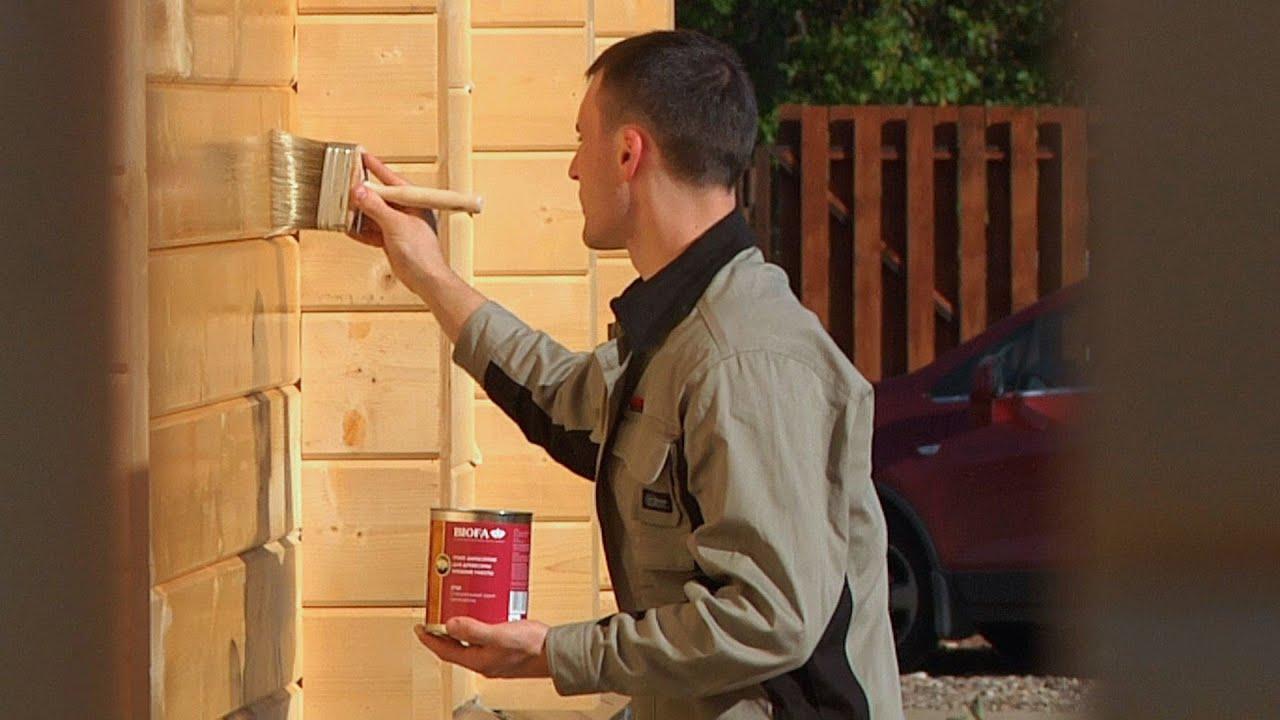 Смотреть онлайн: Окраска деревянного фасада для консервации дома на зиму // FORUMHOUSE