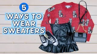 5 Cute Sweater Outfit Ideas for Winter | Style Lab by Seventeen Magazine