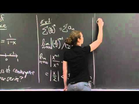 Ratio Test -- Radius of Convergence | MIT 18.01SC Single Variable Calculus, Fall 2010